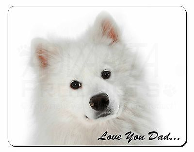 Samoyed 'Love You Dad' Sentiment Computer Mouse Mat Christmas Gift Ide, DAD-116M