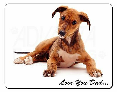 Lurcher 'Love You Dad' Sentiment Computer Mouse Mat Christmas Gift Ide, DAD-180M