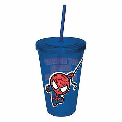 Spider-Man Kawaii Colored Acrylic Travel Cup