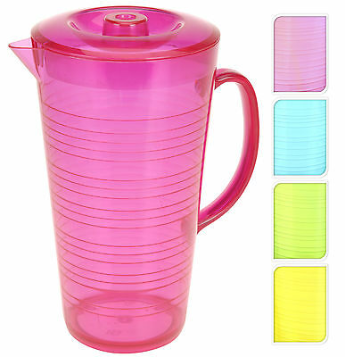 Acrylic Pitcher with Lid Modern Striped Effect Pimms Jug for Party & Weddings