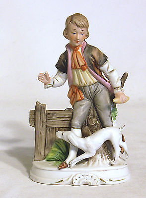Vintage Figurine – Boy Playing Fetch With His Dog