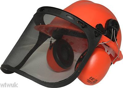 Forestry Chainsaw Strimming Helmet Kit (including mesh visor and ear defenders)