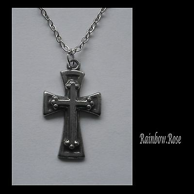 Chain Necklace #2330 Pewter CROSS (14mm x 23mm)