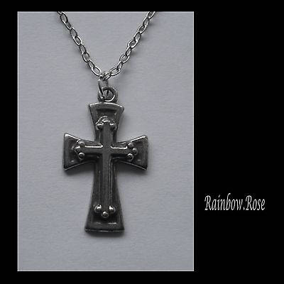 Pewter Necklace on Chain #2330 CROSS (14mm x 23mm)