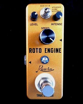 Rowin Roto Engine - Chorus, Flanger, Phaser  Mini Digital Pedal With True Bypass