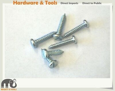 "450gm Zinc Plated Self Tapping Screws Slotted Pan Head: 10x3/4"" /8x1"" /10x1"""