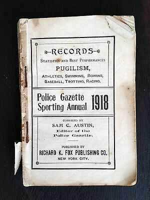 1918 Police Gazette Sporting Annual  - Boxing Baseball Aviaition - Ruth Law
