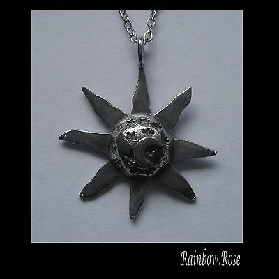 Pewter Necklace on Chain #2377 SUN stars MOON (28mm x 25mm)