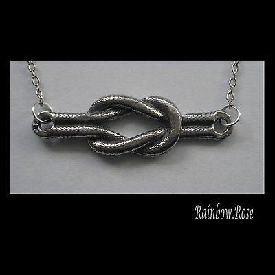 Chain Necklace #2406 Pewter KNOT (36mm x 11mm)
