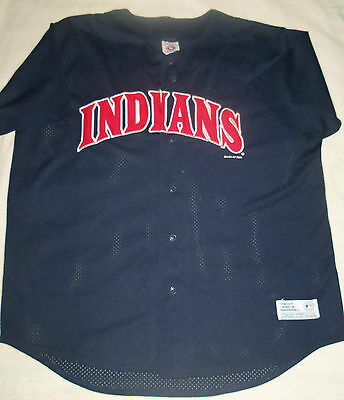 MLB : Cleveland Indians Authentic Stitched Jersey / Shirt - New - XL