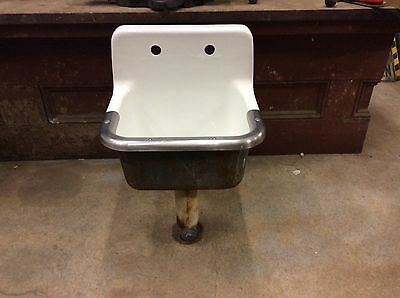 NICE (AMERICAN STANDARD USA) Vintage Cast Iron SCHOOL HOUSE  porcelain MOP SINK