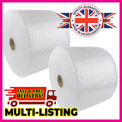 BUBBLE WRAP ROLLS SMALL LARGE (300mm, 500mm, 750mm) - FREE NEXT DAY DELIVERY