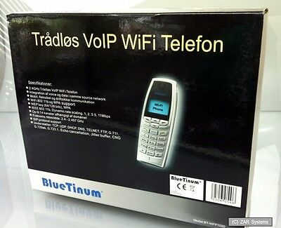 BlueTinum VOIP WIFI WLAN Telefon, BT-WFP1000, Handy SIP, WEP, WPA, IP-Phone, NEU