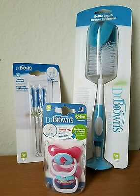 Dr. BROWN'S BOTTLE BRUSH CLEANING BRUSH AND PACIFERS- NEW