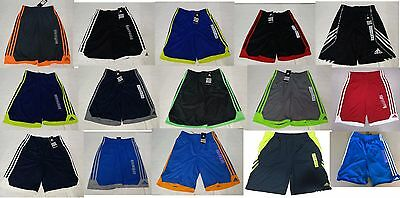 NEW Adidas Boy's Athletic Shorts- VARIETY OF COLORS AND SIZES