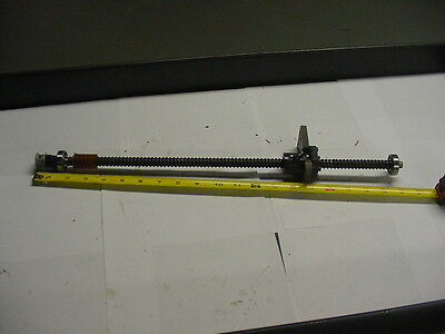 "NSK W1404-205VH Ballscrew 14mm diameter 15"" Travel w/end bearings and pulley"