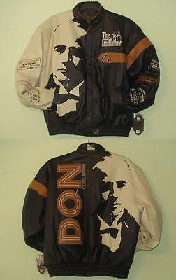 SIZE 6XL THE Godfather Don Corleone LEATHER JACKET EMBROIDERED NEW  XXXXXXL