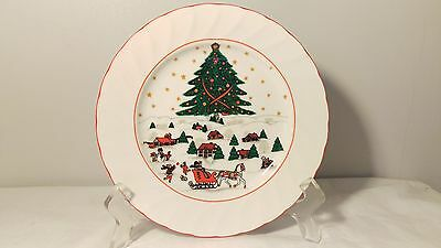 "Kopin Christmas Pleasure 7 3/4"" Salad Plate (s) In Excellent Condition"