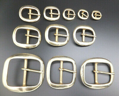 "CAST SOLID BRASS [ 3/8"" - 2"" ] BRIDLE HARNESS BUCKLE 10 mm - 50 mm - 11 Sizes"