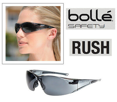 Bolle RUSH Smoke Lens Safety Specs * Medium Impact Genuine item Safety Glasses