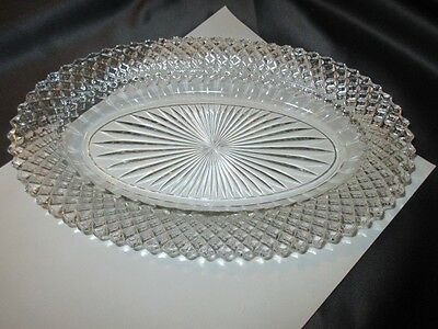 """English Hobnail Westmoreland Depression Glass Oval Plate Tray 10.5"""" X 6.5"""""""