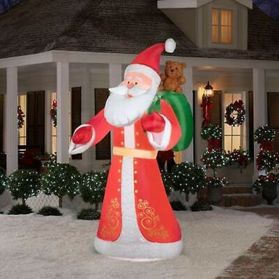 Christmas 9.5 ft. Inflatable Plush Old World Style Santa By Gemmy