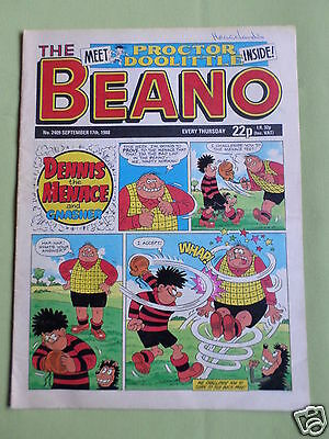 The Beano  - Uk Comic - 17 Sept 1988  - #2409