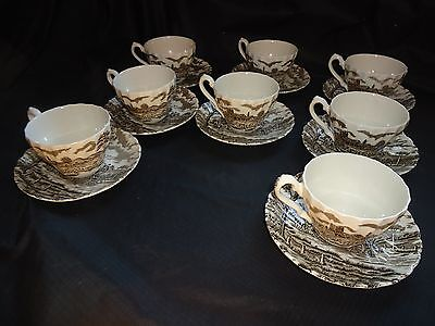 8 Royal Mail Cups And Saucers Sets  Staffordshire England, Carriage Free Shi