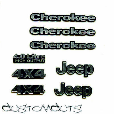 Jeep Cherokee Embleme Axial Proline Body 1:10 RC Scalecrawler Decals Emblems