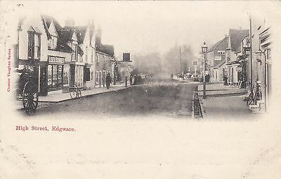 High Street, Edgeware, Middlesex, old postcard, posted 1903