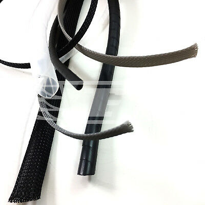 Braided Sleeve / Cable Tidy / Spiral Wrap / Black White Natural / Cable Sleeving