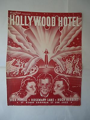 DICK POWELL+BUSBY BERKELEY/HOLLYWOOD HOTEL/french pressbook