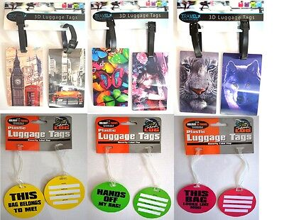 3D Desiger Luggage Tag Suitcase Bag tag Address Label ID Holiday Travel Tags