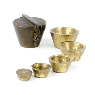Antique Nesting Apothecary Scale Weight Set