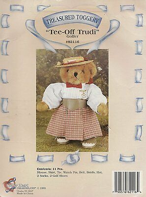 "Tender Heart Treasures Lady Golfer ""Tee-Off Trudy"" Outfit for 12"" Bear"