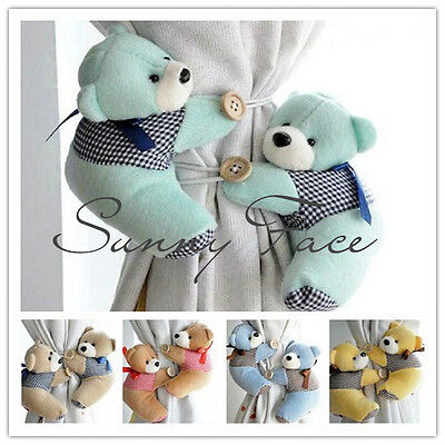 Lovely Cute Bear Animal Bedroom Curtain Tieback Holder Buckle Hook !