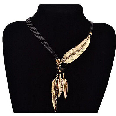 Necklace Pendant New Chain Chunky Hot Crystal Leaf Bib Tassels Choker Statement