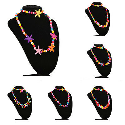 Girls Necklace&Bracelet Set Party Jewelry Bangle Children Gift 6 Type Good QW