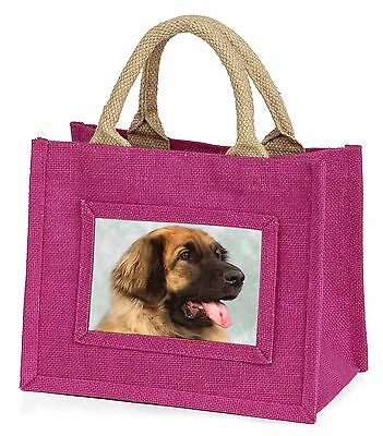 Blonde Leonberger Dog Little Girls Small Pink Shopping Bag Christmas , AD-LE1BMP