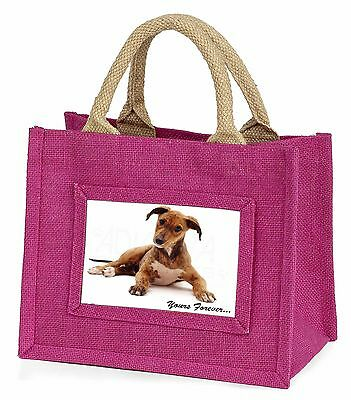 Lurcher Dog 'Yours Forever'  Little Girls Small Pink Shopping Bag Chr, AD-LU4BMP