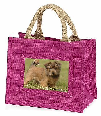 Norfolk Norwich Terrier 'Love You Mum' Little Girls Small Pink Sho, AD-NT1lymBMP