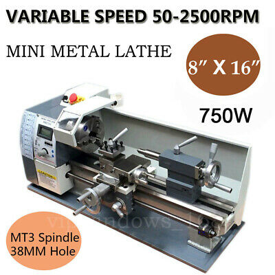 "850W Mini Metal Lathe 220V Metal Thread Processing Variable Speed 8x16""Bench Top"