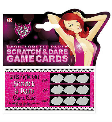 Scratch & Dare Game Cards 6 Pack Hen Night Party Accessory Novelty Fun Drinking