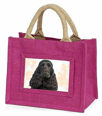 Black Cocker Spaniel Dog Little Girls Small Pink Shopping Bag Christ, AD-SC20BMP