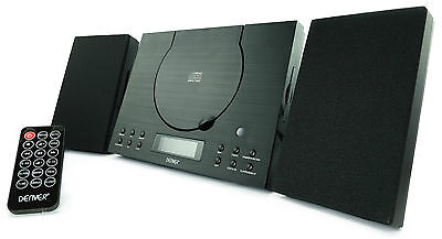 CD Player MC-5010 Black Compact Hi-Fi System Stereo Aux-In FM  Wall Mountable