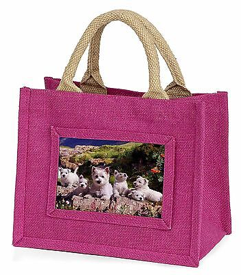 West Highland Terrier Dogs Little Girls Small Pink Shopping Bag Christ, AD-W4BMP
