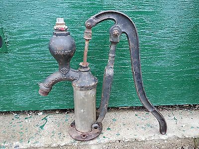 Antique Cast Iron Hand CYLINDER WATER PUMP Good Condition SMART BROCKVILLE ONT