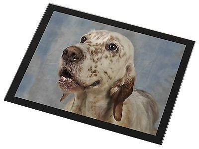 English Setter Dog Black Rim Glass Placemat Animal Table Gift, AD-ES3GP