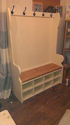 ##Handmade Bespoke monks pew with coat hooks and shoe storage FREE DELIVERY*