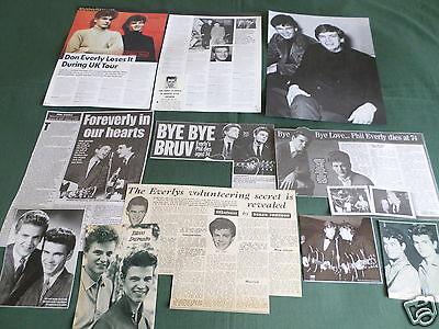 Everly Brothers - Pop Music- Clippings /cuttings Pack